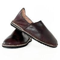 Marocchino Scarpe Pantofole Berbero di Cuoio Marakkech Tgl 40-45