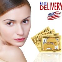 30pairs GOLD Collagen Eye Mask Crystal Anti-Wrinkle Anti-Ageing Gel Patch US