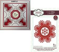 Creative Expressions Festive Collection LOOPED SNOWFLAKE FRAME DIES CED3121