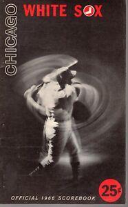 1966 (8/13) Baseball program California Angels @ Chicago White Sox, scored ~ VG
