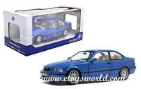 SOLIDO 1/18 SCALE 1990 BLUE BMW M3 E36 DIECAST CAR MODEL S1803901
