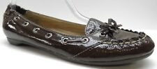 Sperry Top Sider Brown Patent Leather Loafers Heels 7.5M 7.5 NEW MSRP $99.