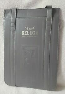Beluga Noble Russian Vodka Insulated Grey Liquor Bottle Tote Bag (New)
