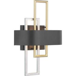 Progress Lighting Adagio Collection 2-Light Black Wall Sconce