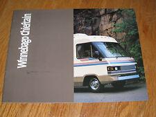 1988 WINNEBAGO Industries CHIEFTAN Brochure  Motor Home Travel Trailer