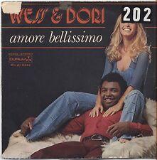"WESS & DORI GHEZZI - Amore bellissimo - VINYL 7"" 45 LP 1976 VG+/VG- CONDITION"