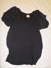 Vintage ELLERY Black Ram scull paper bag dress w removable sleeves sz 6 100%silk