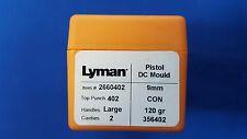 LYMAN Pistol DC Mould Double Cavity 9mm Bullet # 356402 CON - NEW