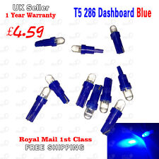10X Ultra Blue T5 286 LED Dashboard Speedo Bulbs Instrument 1smd Led Light Blub