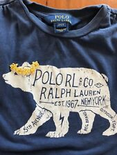 Ralph Lauren Polo Blue Bear T-shirt - 2T
