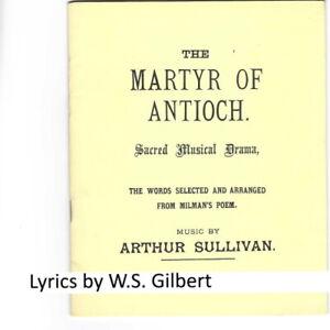 c.1983 booklet Gilbert & Sullivan Martyr of Antioch Selwyn Tillett Sullivan Soc
