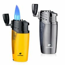 Cigar Lighters Triple 3 Jet Flame Refillable Butane Fluid Torch with cigar punch