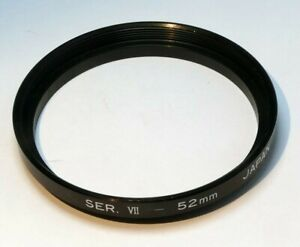 52mm to 54mm (series VII 7) Step-up ring Metal adapter double threaded