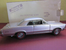 Danbury Mint 1965 Pontiac GTO Coupe Iris Mist 1:24 Scale Diecast Metal Model Adv