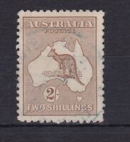 K340) Australia 1915 2/- Light Brown 2nd wmk. Kangaroo