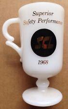 1968 SEABOARD COAST LINE RAILROAD COFFEE MUG, RAILWAY, MILK GLASS, VINTAGE