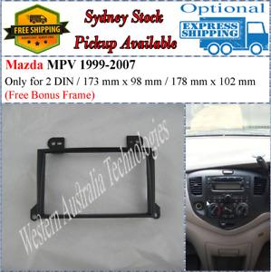 Fascia facia Fits Mazda MPV 1999-2007 Double Two 2 DIN Dash Kit-