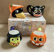Rtrd 2003 Mary Engelbreit Enesco Welcome To Frightville Halloween Mugs Set of 4