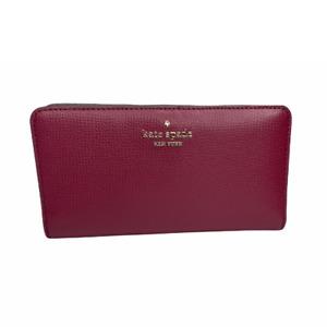 Kate Spade darcy large slim bifold wallet in Blackberry Preserve