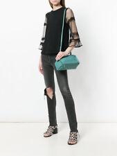 96042e908cdb  1375 Givenchy AUTH NWT Mini Pandora Crossbody Bag Blue Aqua Leather
