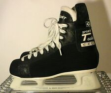 Ice Skating Mens CCM Boots Pro Tacks  SL-5000 Rail Ortho Fit System  Black 8 1/2