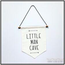 LITTLE MAN CAVE BANNER - NURSERY BANNER WALL DECOR - NURSERY KIDS BABY
