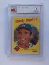 1959 Topps Sandy Koufax #163 BVG 5 Excellent