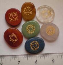 Chakra Stone Set, Engraved Natural Stones sc825b