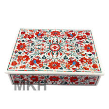 Marble Jewellery Box Trinket Vintage Inlay Jewelry Boxes Handmade Marquetry