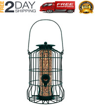 New listing Squirrel Proof Bird Feeder Hanging Cage Seed Food Outdoor Small Wild Garden Yard