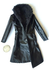"""1:6th Scale Gangster Fur Collar Coat For 12"""" Female Action Figure Toys"""