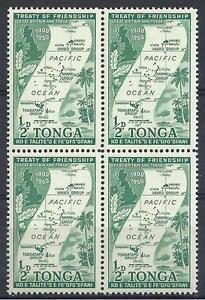 Tonga 1951 Sc# 94 Map & Island scene block 4  MNH