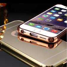 Funda para iPhone 5/5S y iPhone SE metal aluminio tapa espejo + cristal opcional