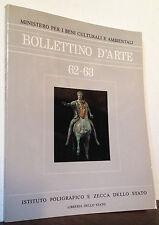 Bollettino d'Arte n.62-63 luglio-ottobre 1990