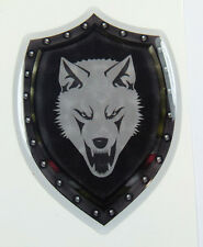 "Chechnya Shield Style 2.75"" crest Chechen lone Wolf Emblem domed decal Bike Car"