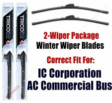 WINTER Wipers 2-pack fits 2012+ IC Corporation AC Commercial Bus 35-220x2