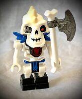 LEGO Ninjago NUCKAL w/ Vertical Hand Clips Minifigure 2504 2518 njo003 Skeleton