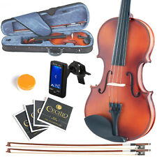 MENDINI SIZE 1/16 VIOLIN SOLIDWOOD SATIN ANTIQUE +TUNER+EXTRA BOW+CASE 1/16MV300