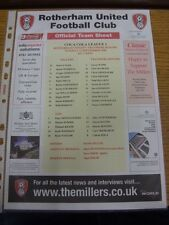12/09/2006 Colour Teamsheet: Rotherham United v Tranmere Rovers. Thanks for view