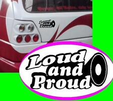 Loud and Proud DB Subwoofer ADESIVO STICKER JDM OEM Shocker