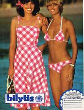 PUBLICITE ADVERTISING  1978   BILYTIS  maillot de bain robe de plage