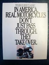 HARLEY DAVIDSON TOUR GLIDE CLASSIC - Motorcycle Sales Brochure - 1986 - U.S.A.