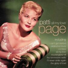 PATTI PAGE - ALL MY LOVE (NEW CD)