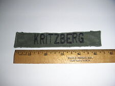 "Used Subdued ""Kritzberg"" Name Tape (Sew on Type) - (#703)"
