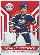 2013-14 Panini Totally Certified ADAM GRAVES #TC-AGR Jersey Edmonton Oilers