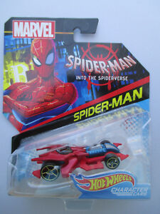 HOTWHEELS MARVEL CHARACTER CARS *SPIDER-MAN* INTO THE SPIDER-VERSE SLEEK HOT ROD