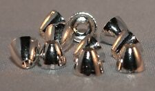 ICE FLIES. Tungsten cone head for fly tying. 10 pcs. 4 x 3 mm. Silver