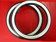HONDA C110 CT110 CA110 C200 WHITE WALL TIRE SET 2 Pcs. 17X2.25 &2.50 Export Grad