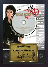 "Michael Jackson SIGNED FRAMED PHOTO AND ""BAD"" CD Disc Presentation Display"