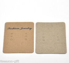 "100PCs Light Coffee Earrings Jewelery Display Cards 7x5cm(2 6/8""x2"")"